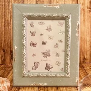PARISIAN HOME 5x7 DISTRESSED ANTIQUE TEAL FRAME